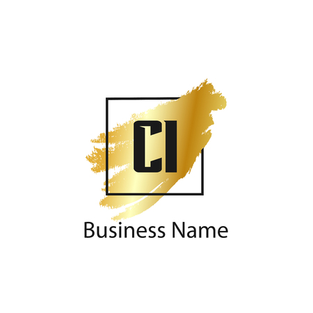 Initial Letter CI Logo Template Design
