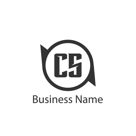 Initial Letter CS Logo Template Design