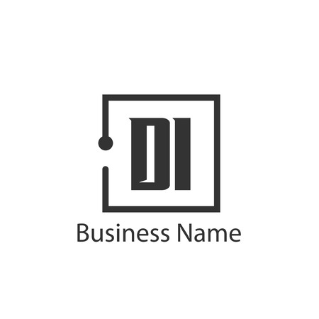 Initial Letter DI Logo Template Design