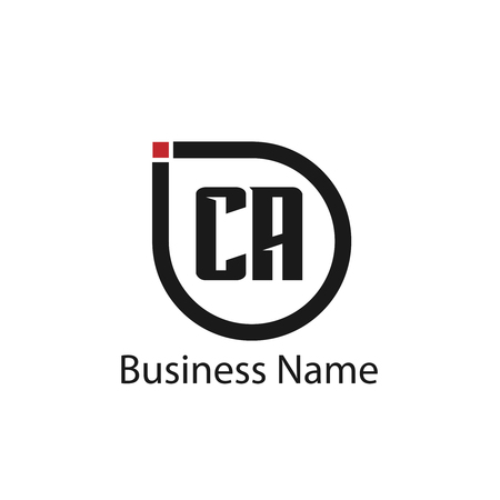 Initial Letter CA Logo Template Design
