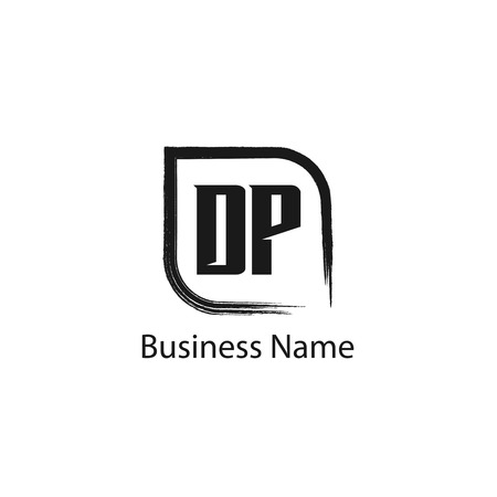 Initial Letter DP Logo Template Design