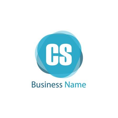 Initial Letter CS Logo Template Design Logó