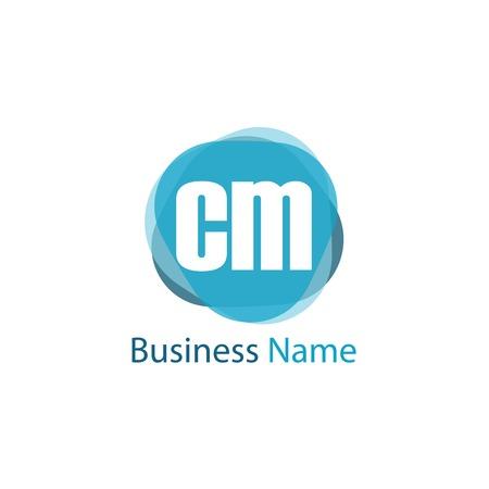 Initial Letter CM Logo Template Design