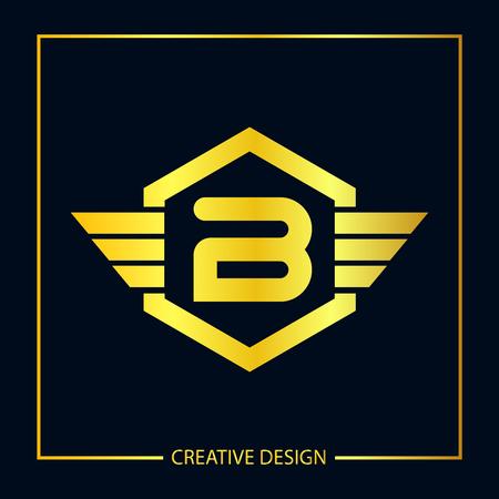 Initial Letter B Logo Template Design Vector Illustration Logó