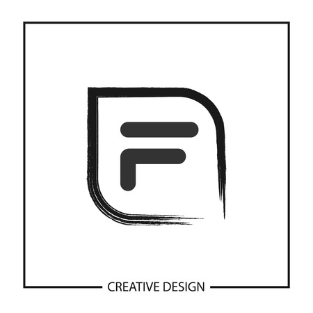 Initial Letter F Template Vector Design