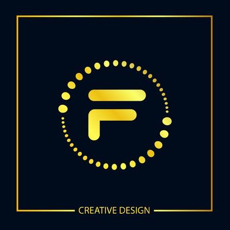 Initial Letter F Template Vector Design Vettoriali