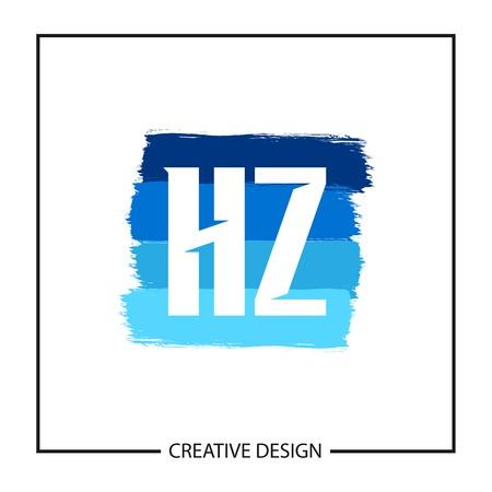 Initial Letter HZ template Design Vector Illustration