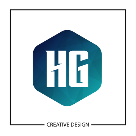 Initial Letter HG Template Design Vector Illustration