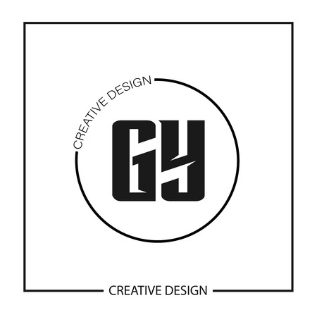 Initial Letter GY Template Design Vector Illustration