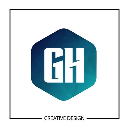 Initial Letter GH Template Design Vector Illustration