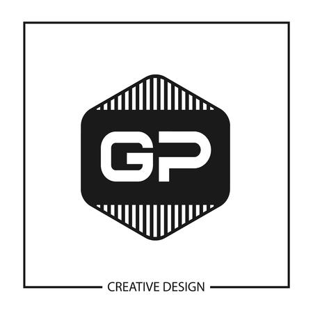 Initial Letter GP Template Design Vector Illustration Illustration