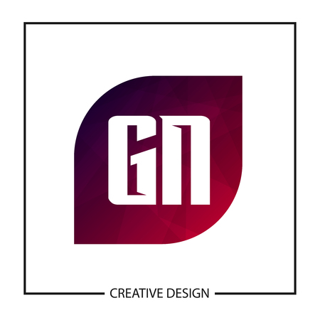 Initial Letter GN Template Design Vector Illustration