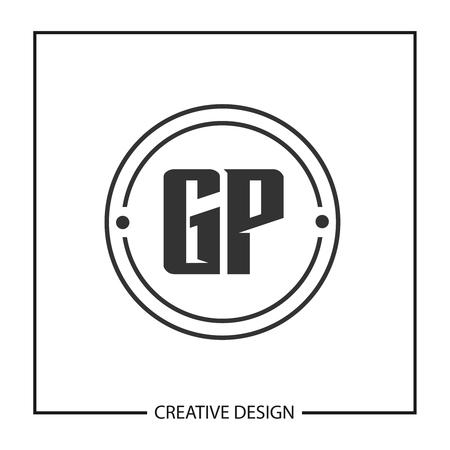 Initial Letter GP Template Design Vector Illustration
