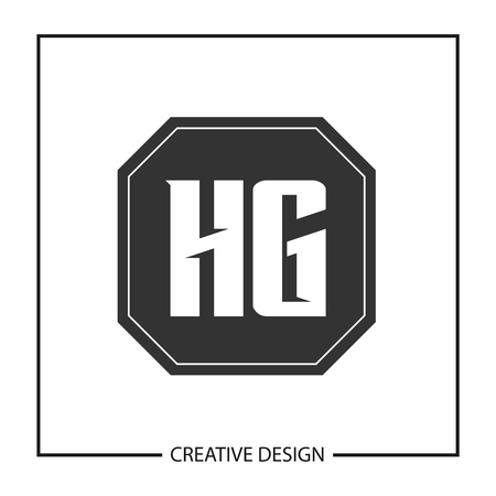 Initial Letter HG Template Design Vector Illustration