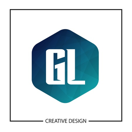 Initial Letter GL Template Design Vector Illustration Stok Fotoğraf - 119159385
