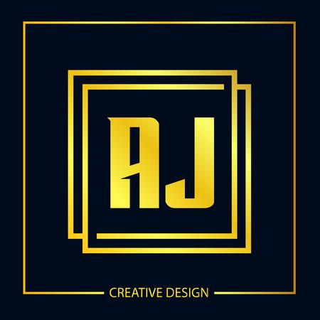 Initial Letter AJ Template Design
