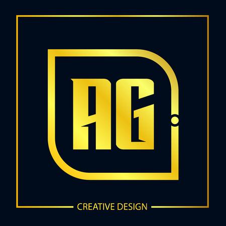 Initial Letter AG Template Design Illustration