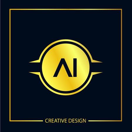 Initial Letter AI Template Design