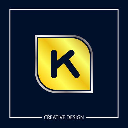 Initial Letter K Template Vector Design