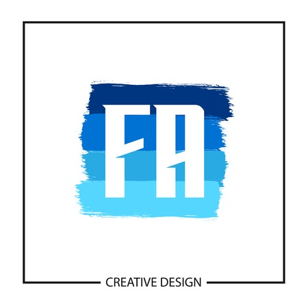 Initial Letter FA Template Design Vector Illustration