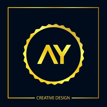 Initial Letter AY Template Design Stock Vector - 119229089