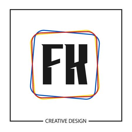 Initial Letter FK Template Design Vector Illustration