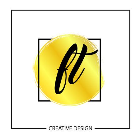 Initial Letter FT Template Design Vector Illustration