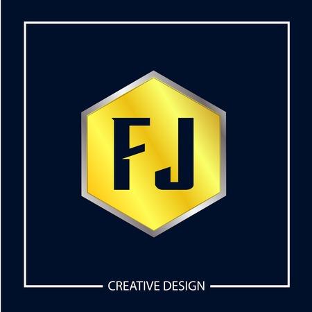 Initial Letter FJ Template Design Vector Illustration