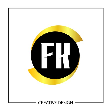 Initial Letter FK Template Design Vector Illustration Vektoros illusztráció