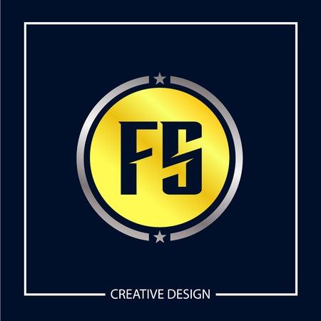 Initial Letter FS Template Design Vector Illustration