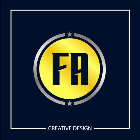 Initial Letter FA Template Design Vector Illustration