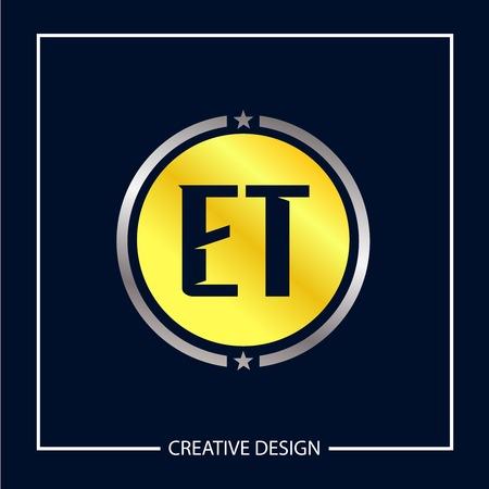 Initial Letter ET Template Design Vector Illustration Vektorové ilustrace