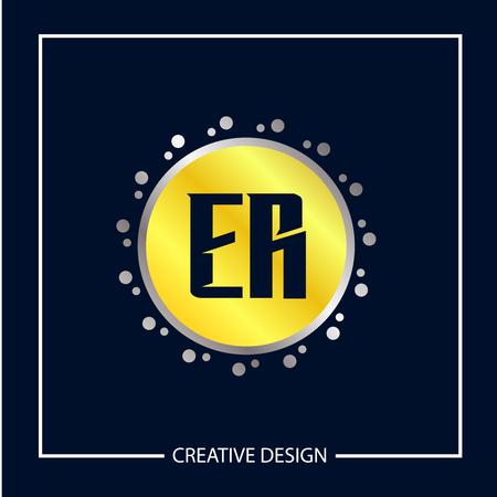 Initial Letter ER Template Design Vector Illustration