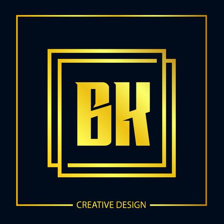 Initial Letter BK Template Design