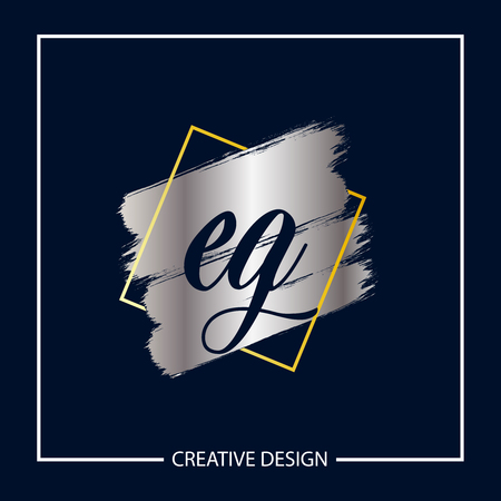 Initial Letter EG Template Design Vector Illustration
