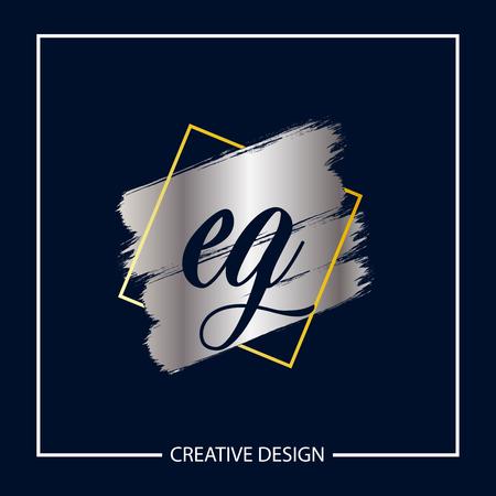 Initial Letter EG Template Design Vector Illustration Banco de Imagens - 119549015