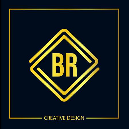 Initial Letter BR Template Design Banco de Imagens - 119549143