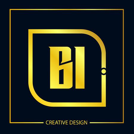 Initial Letter BI Template Design Stok Fotoğraf - 119608466