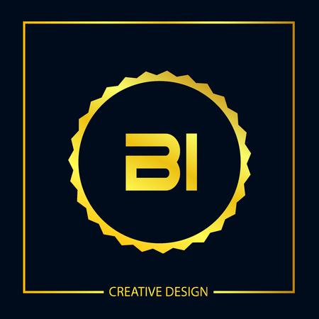 Initial Letter BI Template Design