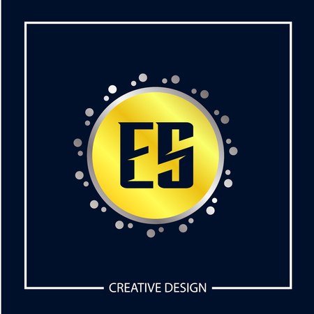 Initial Letter ES Template Design Vector Illustration