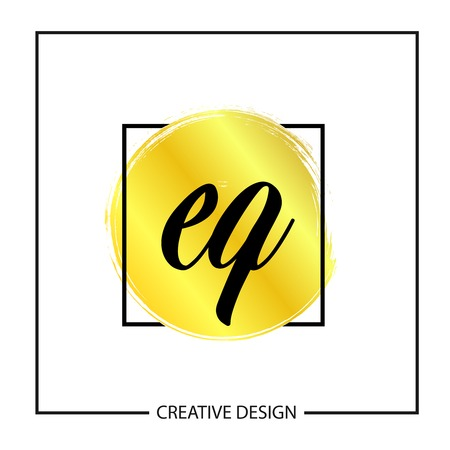 Initial Letter EQ Template Design Vector Illustration