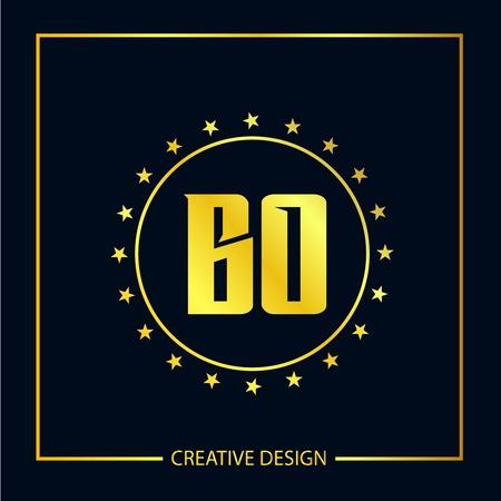 Initial Letter BO Template Design 向量圖像