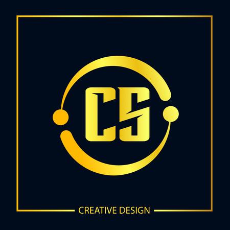 Initial Letter CS Template Design