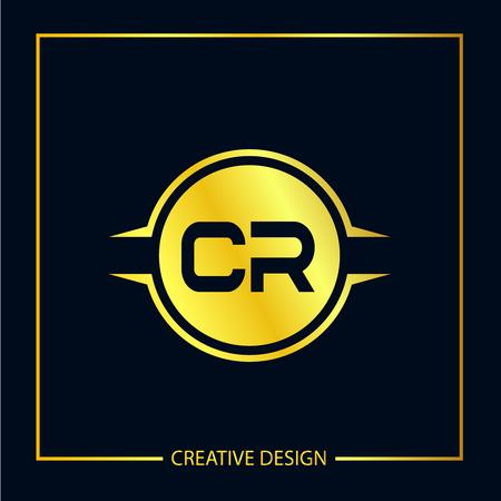 Initial Letter CR Template Design Vektoros illusztráció