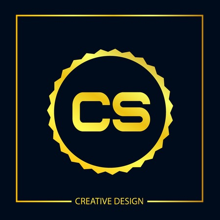 Initial Letter CS Template Design Vektoros illusztráció