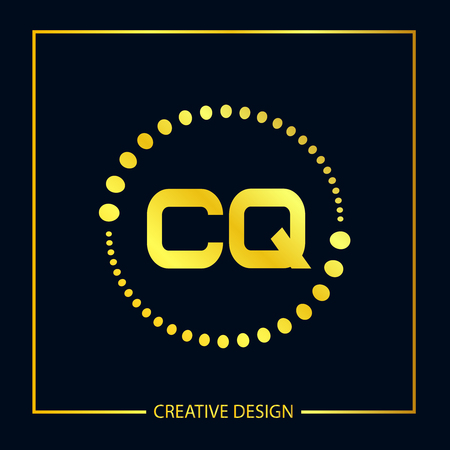 Initial Letter CQ Template Design Illustration