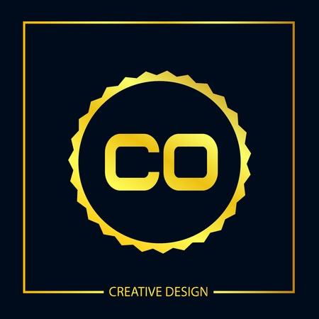 Initial Letter CO Template Design