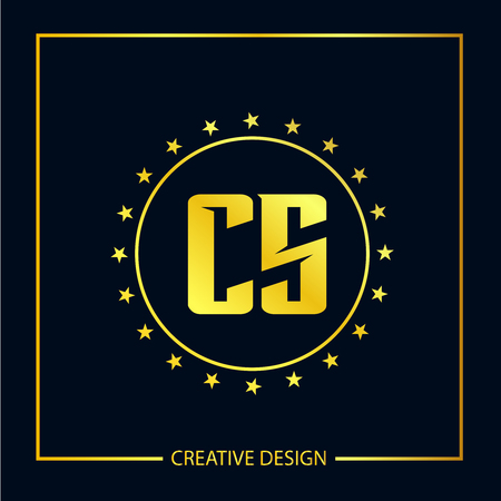 Initial Letter CS Template Design