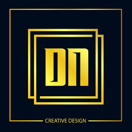 Initial Letter DN Template Design Vektorové ilustrace