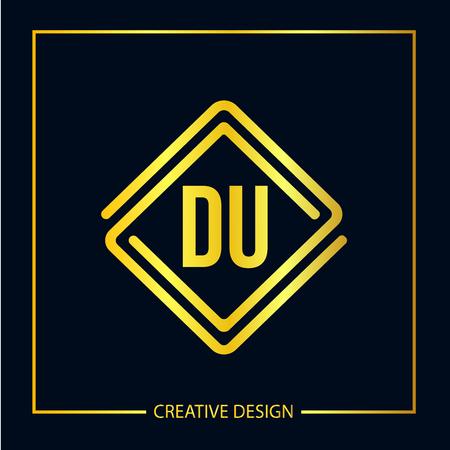 Initial Letter DU  Template Design